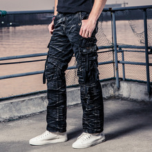 100% Cotton Army Casual Pants Camouflage Multi Pocket Cargo Pants Men Military Work Trousers Militar Pants 3235