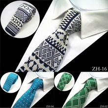 JEMYGINS New Design Fashion Knit Men Tie Slim Mens Knitted Neck Ties Cravate Narrow Skinny Neckties For Men Suit Wedding Party(China)