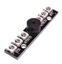 WS2812B LED Board With 5V Buzzer For Naze 32 Skyline 32 Flight Controller for Matek