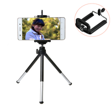 Mini Tripod Stand Portable Self Stick Light table Tripode Supportor Live Show + Phone Holder For Camera phone Gopro SJCAM(China)