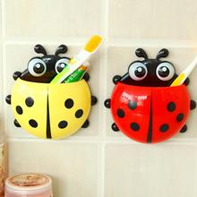 Lovely Cartoon Toothbrush Holder Coccinella Septempunctata Spot Lad Tooth Brush Holder for Kids Children