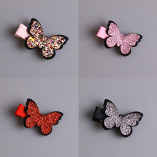 Baby Girls Hair Accessories Sequins Heart Butterfly Barrettes Glitter Stars Clip Pin Kids Children Hairpin(China)