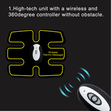 Rechargable Massage Unit Wireless Electric Massager TENS Unit Electrotherapy Back Pain Relief ABS Fit Muscle Stimulator Massager