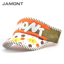 [JAMONT] 2017 Summer Kids Visor Hat Girl Boys Fashion Visors Empty Top Caps Size 52~56CM Z-5351()