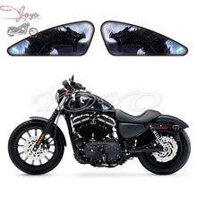 Black Dragon Graphics Fuel Tank Decals Stickers For Harley Sportster XL 883 1200 X/V/R/N/L/C XR1200 Iron Forty Eight Seventy Two