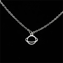 Gorgeous Tale Saturn Planet Necklace Pendant Clavicle Chain Gold Color Stainless Steel Necklace For Women Bff Gift