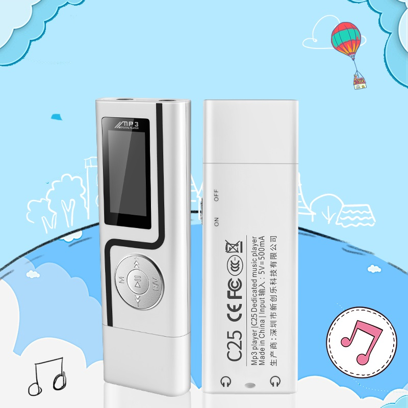 GERUIDA MP3 Player Faster Charge USB MP3 Mini Music Player Also U Disk 2G4G8G With FM Recording  OTG Lanyard  (8)