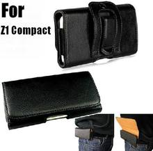 Magnetic Waist Bags Belt Clip Case For Sony Xperia Z1 Compact Z3 Compact Z5 Compact Cover Holster Horizontal Flip Leather Case