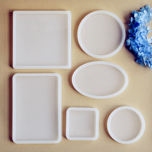 SNASAN Square Round Oval rectangle Scrapbooking Silicone Mold Resin Silicone Mould handmade DIY Jewelry Making epoxy resin molds(China)