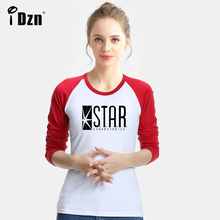 Spring Autumn Women Long Sleeve T-shirt Stilinski 24 Scott Body Shop Wolf Totem The Flash STAR Laboratories Bazinga Tees Tops(China)