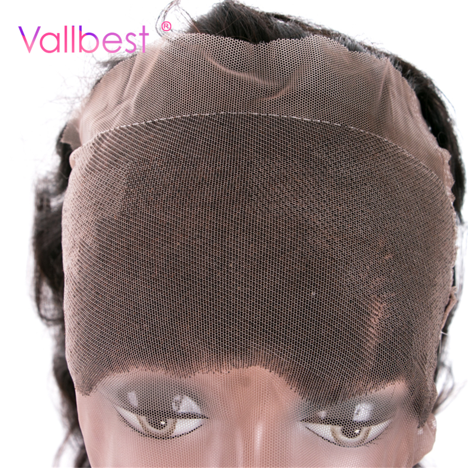 Vallbest Brazilian Body Wave 360 Lace Frontals Human Hair Closure Brazilian Hair Natural Black 1B Non Remy Hair Free Part