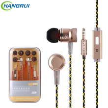 Original G63 metal bass earbuds Microphone Stereo Bass earphones for iPhone 6s for Samsung Huawei Xiaomi piston Sport earphones