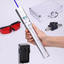 445-450nm 500000mw 500W Burning Laser Focusable blue laser pointer burn paper use 2*18650 batteries free shipping