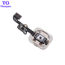 "10pcs/lot Home Button Flex Cable for iPhone 6 4.7"" / 6 plus 5.5"" Black/White/Gold Home Flex Assembly  replacement parts"