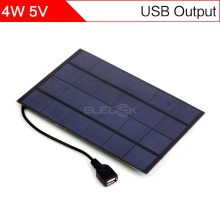 ELEGEEK 4.2W 5V 200*130mm Solar Cell Panel USB Output 800mAh Monocrystalline PET + EVA Laminated Mini Solar Panel for DIY Test