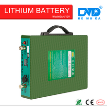 Innovative storage only 7KG deep cycle 12v 60ah lithium solar battery with 10A battery charger(China)