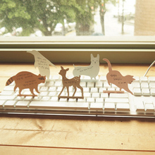 Free shipping cute Stationery cartoon animal keyboard notes on paper message card scrimshaws transparent pvc box dog memo pads