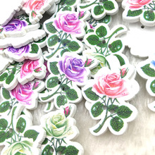 20Pcs Flower Fashion Fancy Bulk Mixed Wooden Button Sewing Accessories Decorative Buttons Handmade Scrapbooking Craft 23*3 WB376
