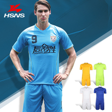 Genuine Men's Jersey Soccer Suit Short Sleeved Shirt Custom Logo Team Name/Number Football Training Clothes High-quality(China)