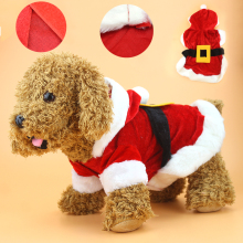 New Puppy Dog Clothes Santa Costume Christmas Pet Clothes Hoodie Coat Clothing for Dog Chihuahua Yorkshire Poodle 39S1