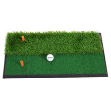 Indoor Mini Golf Tee Golf Training Mat Fairway Rough Turf Backyard Golf Mat Practice Rubber Tee Holder Grass Training Mat(China)