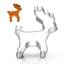 2015 New Christmas Cookie Cutter Mold Deer Shaped Stainless Steel Biscuit Cutter Metal Cutters for fondant