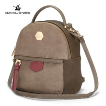 DAVIDJONES Mini Backpack Women School Bags female shoulder bags bolsa mochila feminina Sac a dos rugzak(China)