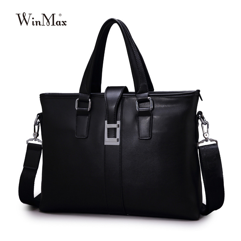Famous Brand leather mans handbag commercial business bag fashion man briefcase male delicate ad luxurious maleta messenger bag<br>