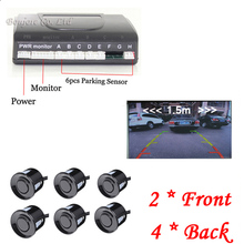 Buy Universal Car detector Auto Parking Sensor Reverse Backup Assistance Radar image System Parktronic 6 sensors Parking system for $40.00 in AliExpress store