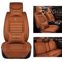 Yuzhe Linen car seat cover For BMW e30 e34 e36 e39 e46 e60 e90 f10 f30 x3 x5 x6 X1 530i 2010-2004 car accessories styling(China)