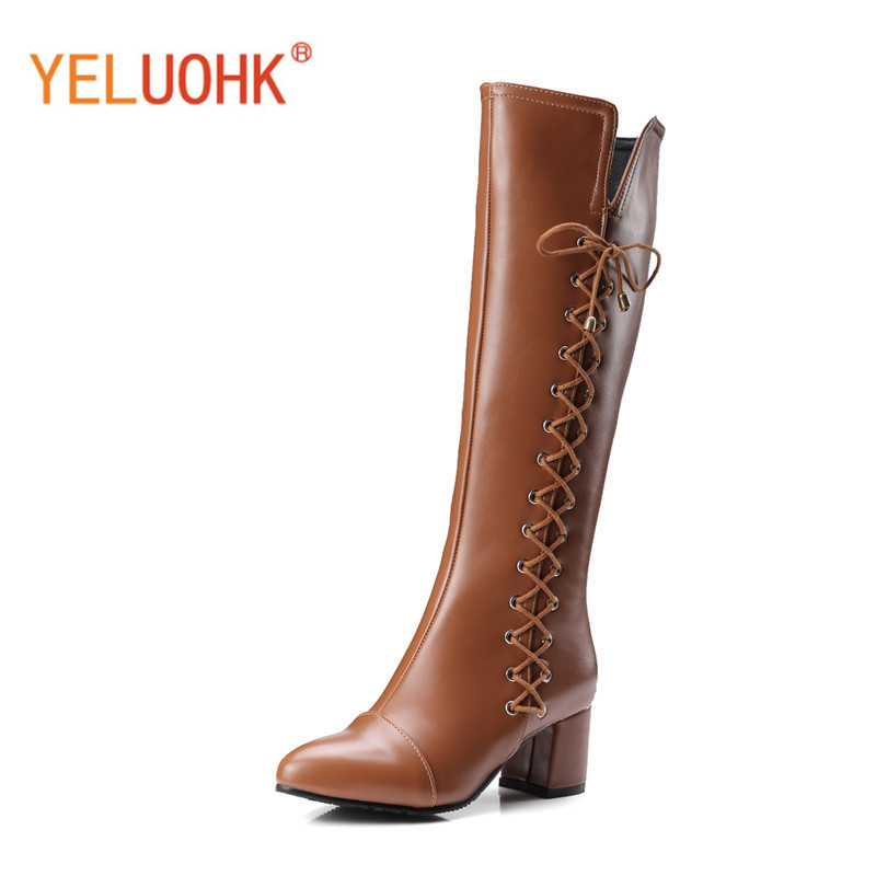 34-43 Women Winter High Boots Platform Winter High Boots For Women High Boots Female Winter Shoes Big Size<br>