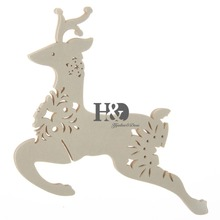 120PCS Laser Cut Deer Wine Glass Beer  Cup Cards Wedding Party Table Wedding Invations Card Cards for Party Chritmas Decoration