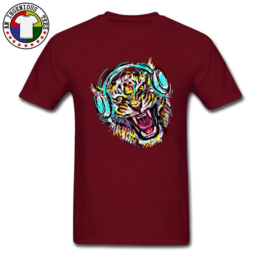 2018 Men T Shirt Cool Wild Music Printed On T-Shirt 100% Cotton Short Sleeve Print T Shirt Crew Neck Wholesale Cool Wild Music maroon
