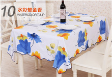 The Tulip Flower Tablecloths for Restaurant Home Outdoor Table Cloth Bar Cloth Modern Life PVC Waterproof and Oilproof Hot Sale