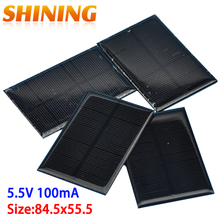 10pcs PET Small Solar Panel 5.5V 100mA Solar Cells Photovoltaic Panels Module For 3.6V Battery Charger DIY 84.5x55.5 Panneau