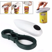 ZORASUN Automatic Can Opener One Touch Jar Openers Kitchen Helper Tool 2 in 1 Multifunction Opener(China)
