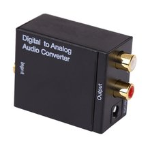 New Digital to Analog Audio Converter Adapter Digital Adaptador Optic Coaxial RCA Toslink Signal to Analog Audio Converter RCA