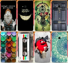 For Microsoft Nokia Lumia 535 N535 Cases Cover Shell Capa Classical Magnetic tape Don't touch my phone Hood PC Phone Case(China)