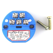 4-20mA 0-10V High Accuracy Stable Plastic Temperature Transmitter Module PT100 Thermocouple(China)