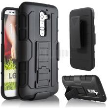 Protective Armor Impact Hard Case Cover Holster Stand+Belt Clip For LG G2 D801 D802 LS980/G2 VERIZON VS980/G2 mini D620 D618