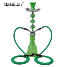 Babilon Narguile chicha cachimbo The Green 53cm Middle hookah water pipe Ceramic bowl One/two Pipe shisha in glass smoking pipe