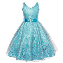 girls party dress kids designer children teenagers prom party ceremonies gowns dresses birthday princess dress infantil YAA040(China)