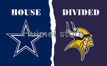 Dallas Cowboys Flag Vs Minnesota Vikings Flag Football World Series 3ft X 5ft Minnesota Vikings Banner Dallas Cowboys Flags(China)