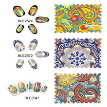 1 PC Nail Water Decals multicolor Designed Transfer Stickers Nail Art Sticker patterns available water transfer nail sticker