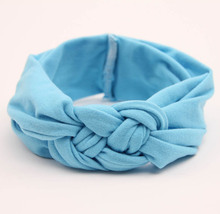 wholesale 10pcs/lot latest trend girl headband cute  knot headbands Children/kids cotton turban hairband girls head wraps