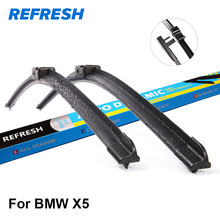 REFRESH Wiper Blades for BMW X5 E53 / E70 / F15 Fit Hook / Side Pin / Push Button Arms Exact Fitting From 1999 to 2017(China)
