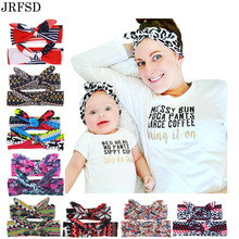 JRFSD New Cute DIY Headband 9 Style Color Elastic Knot Hair Band Soft  Kids/Mother Hairband Kids Hair Accessories BM-01