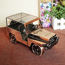 Iron Antique Car Metal Craft Home Decoration Luxury Car Model Unrusted Figurine Miniatures Birthday Gifts Art Exquisite Crafts