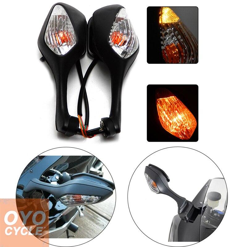 Turn Signal Light W// Rear View Mirrors For Honda CBR1000RR 2008-2013 2012 Black