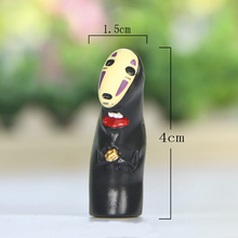 10pcs/lot Ghibli Miyazaki Hayao Spirited Away No Face Holding Gold Figures Toys DIY Resin Action Figure Collection Model Toy